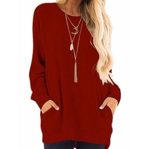 Tops - Long Sleeve Sweatshirt with Pocket